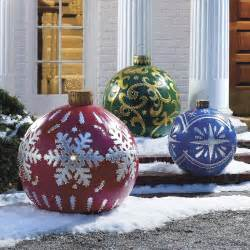 Outside Decorations by Outdoor Lighted Ornaments The Green