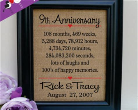 9th anniversary gift ideas for him 9th anniversary etsy