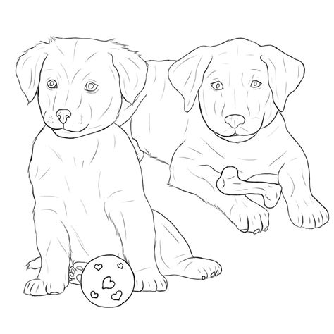 labrador puppy coloring page labrador retriever puppies by midnightfoal on deviantart