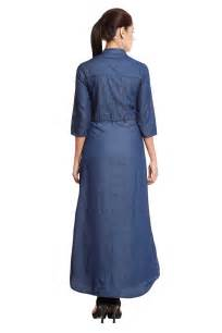 front button blue denim maxi dress dresses for women