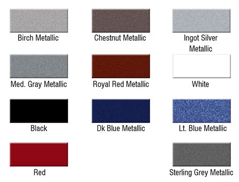 paint colors for utilities utility trailers titan color chart mid plains equipment
