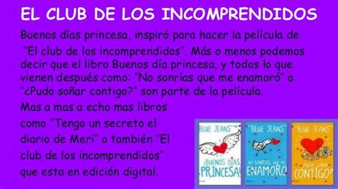 libro el club de las buenos dias princesa