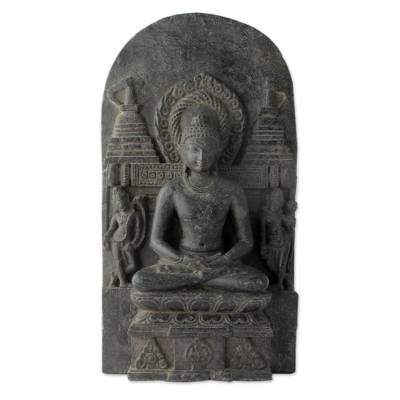 blessing on of granite carved granite buddha sculpture from india peace
