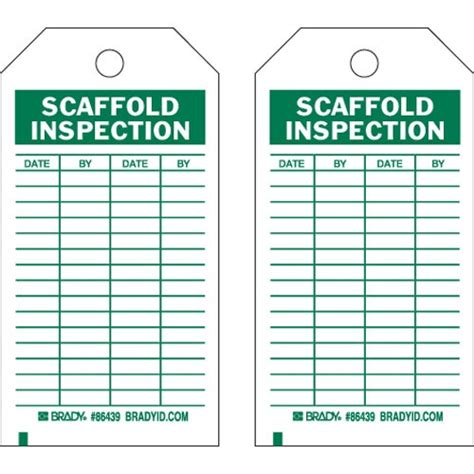 printable scaffold tags buy brady 86501 scaffold inspection tag megadepot