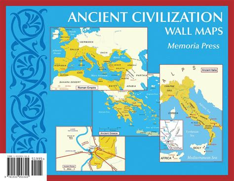 map of ancient empire ancient civilization small wall maps 11 x17 memoria
