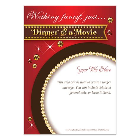 dinner amp movie invitations amp cards on pingg com