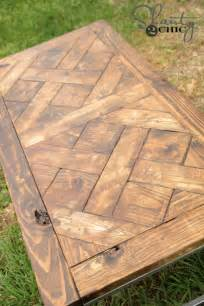 diy metal and wood coffee table shanty 2 chic