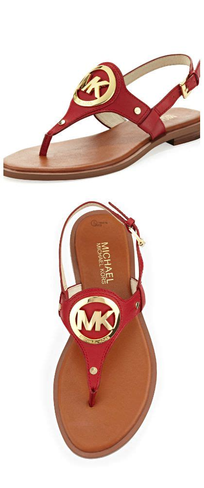 cheap michael kors slippers michael kors logo sandal in july