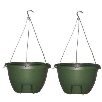 Self Watering Hanging Planters by The Weekender 16 In Forrest Green Polypropylene Hanging