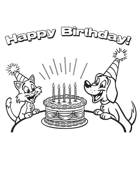 Birthday Card Coloring Pages Coloring Home Happy Birthday Color Pages