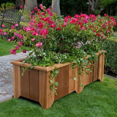Country Planters by Wood Country Rectangle Cedar Wood Pocatello Planter