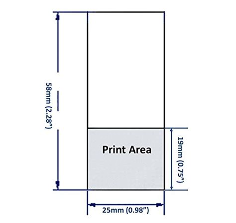 printable area in a4 mr label vinyl self laminating printable cable labels