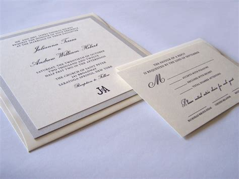 Thermography Wedding Invitations by Thermography Wedding Invitation White Tie Designs