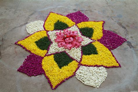 flower pattern rangoli design latest rangoli design for diwali 2016 images photos