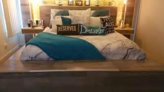 tv storage bed frame diy pallet bed bed frame custom made rustic storage