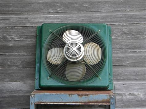 window fan intake or exhaust vintage 20 inch industrial machine age window intake