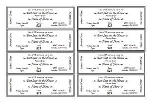 Event Ticket Template by Publisher Event Ticket Templates Free At Review