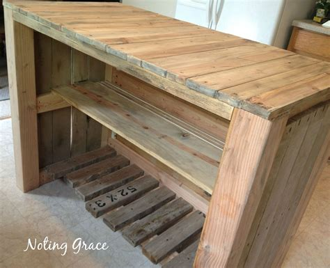 pallet kitchen island how to make a pallet kitchen island for less than 50