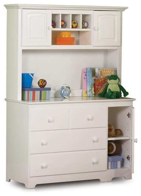 Dresser With Hutch White by 3 Drawer Dresser W Hutch In White Fin