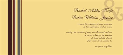 normal invitation card template card design ideas brown colored with stripe pattern