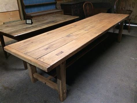 large kitchen tables with benches 320cm large antique oak 4 plank top with matching benches