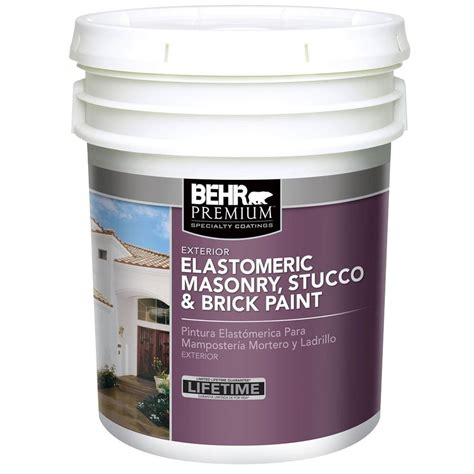 home depot 5 gallon interior paint behr premium 5 gal elastomeric masonry stucco and brick