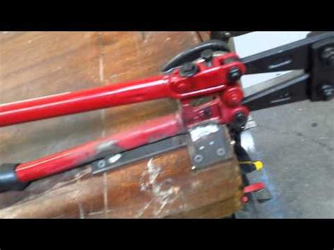 bench top bolt cutter table top bolt cutter youtube