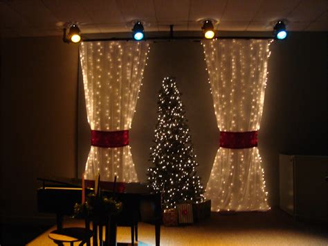 christmas curtains ideas packed christmas church stage design ideas