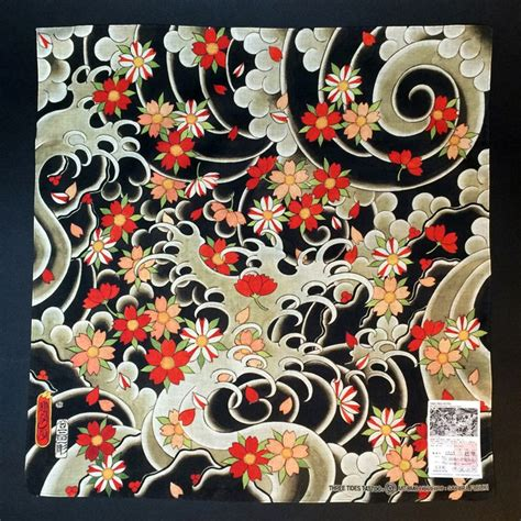 handkerchief pattern tattoo mitomodo horihiro sakura fubuki handkerchief tattoo