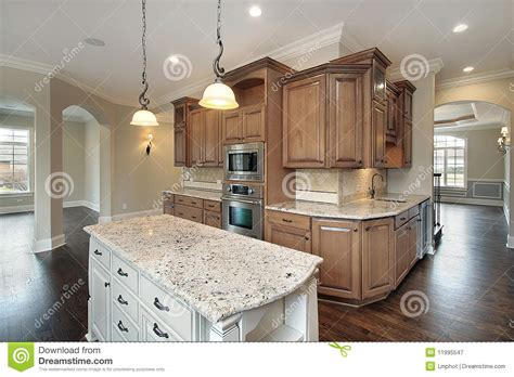 Kitchen Granite Island Kitchen With Granite Island Royalty Free Stock Photography Image 11995547