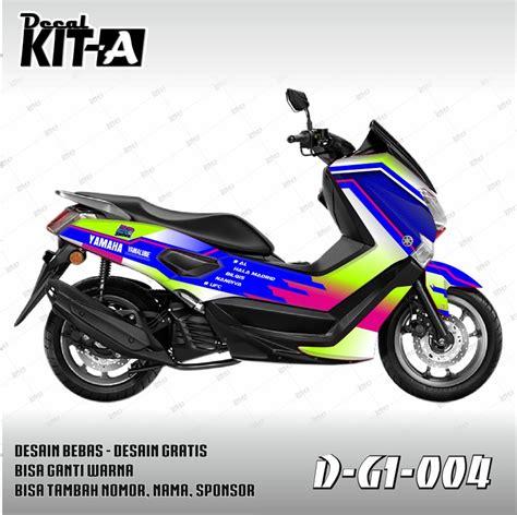 gambar stiker motor yamaha nmax sobatbiker