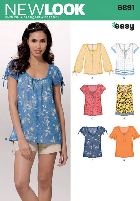 simple pattern top marks new look 6891 misses tops