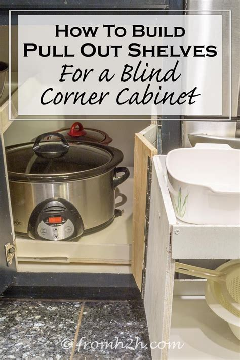 How To Build A Corner Kitchen Cabinet How To Build Pull Out Shelves For A Blind Corner Cabinet Part 1 Shelving Corner And Kitchens