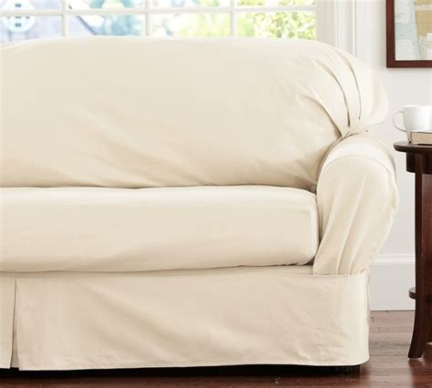 loose sofa slipcover separate seat square cushion loose fit slipcover twill