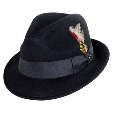 Hat L by Jaxon Hats Blues Crushable Wool Felt Trilby Fedora Hat All