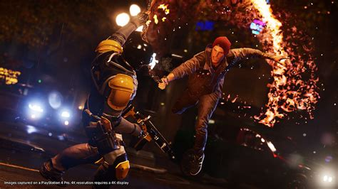 ps4 themes infamous infamous second son first light on ps4 pro detailed