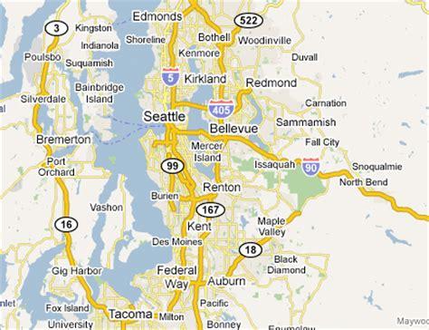 seattle map directions seattle metro map toursmaps