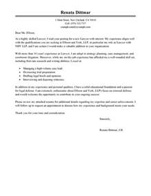 lawyer cover letter legal cover letters