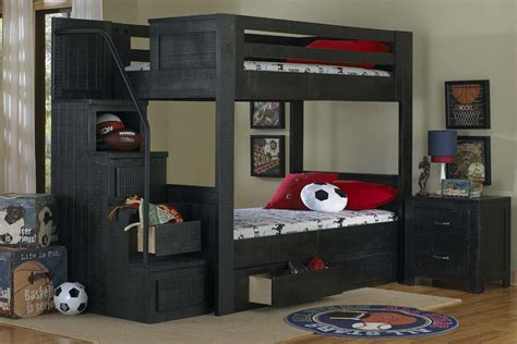 full over full bunk bed with stairs black full over full bunk bed with staircase at gardner white