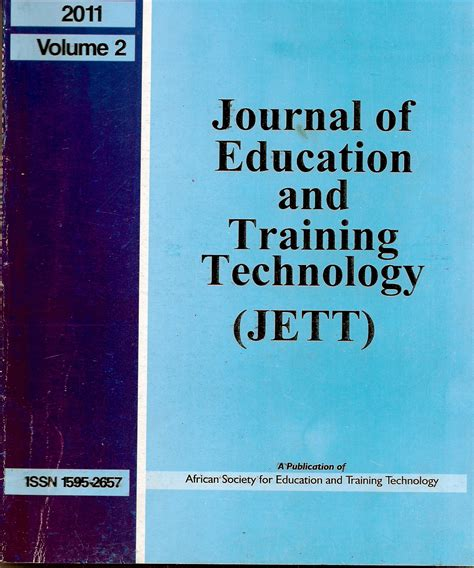 design technology education journal jounal of education and training jett