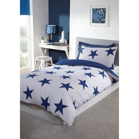 stars single bedding twin pack blue bedding bm