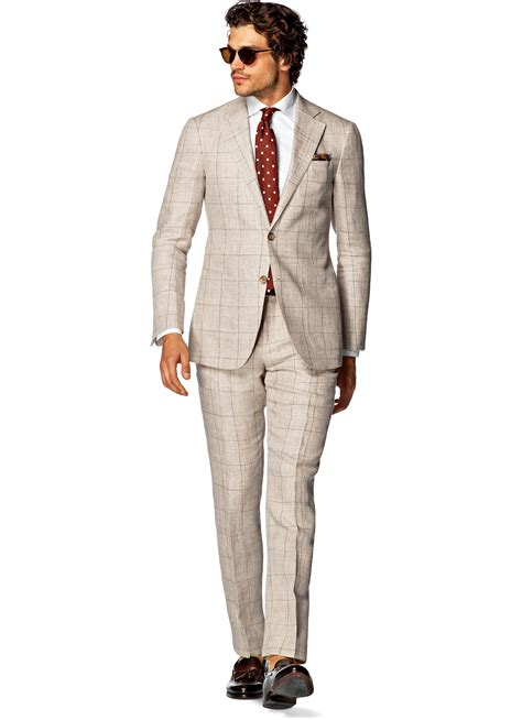 Light Brown Suit by Suit Light Brown Check Hudson P4233 Suitsupply Store