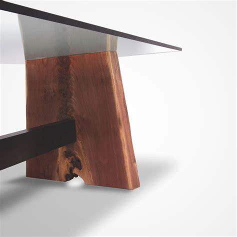 glass and walnut dining table walnut base dining table glass top rotsen furniture