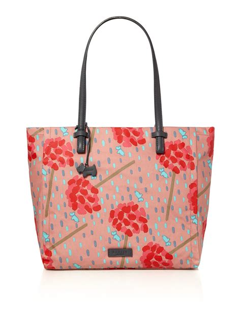 radley flower shower multicoloured large tote bag in pink lyst