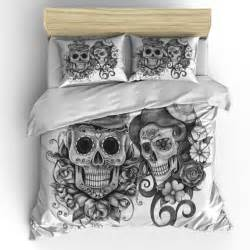 Skull bedding sugar skull duvet cover set skull bedding pillow shams