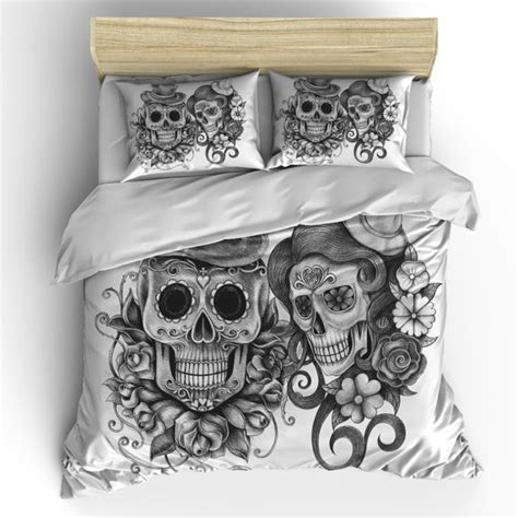 skull comforter queen skull bedding sugar skull duvet cover set skull bedding