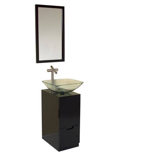 Bathroom Vanity Mirror Espresso 17 Inch Espresso Modern Bathroom Vanity With Mirror