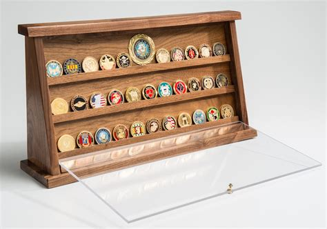 challenge coin displays medium walnut challenge coin displays