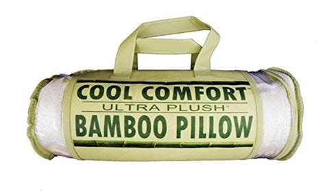 cool comfort bamboo pillow cool comfort bamboo covered memory foam pillow queen