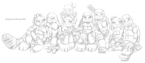girl turtle coloring page tmnt 2012 by propimol deviantart com on deviantart tmnt